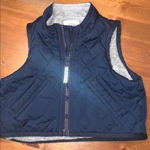 Baby Gap Navy Quilted Fleece Lined Vest.